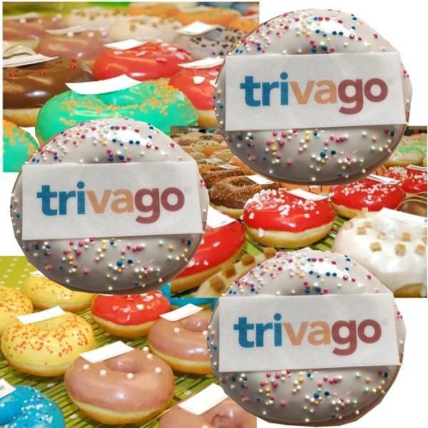 Donut mit Firmenlogo