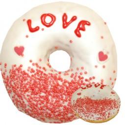 Über 100 verschiedene leckere Donuts im Sortiment